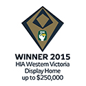 Winner 2015 HIA Western Victorian Display Home under $250,000