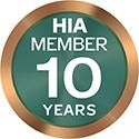 HIA Member 10 Years